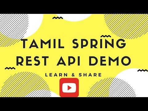 TAMIL SPRING REST API APPLICATION DEMO