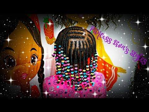 Three Layers Of Braids & Beads | Children's Natural Hair Care
