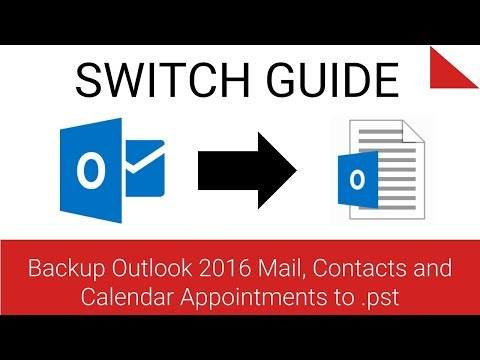 Backup Outlook 2016 to .pst File
