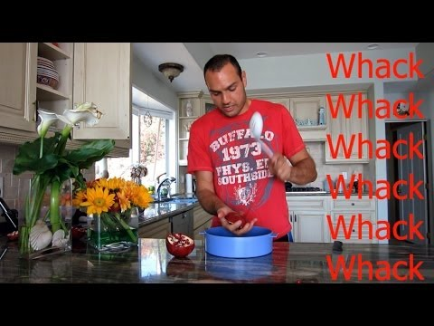 How to WHACK the seeds out of a pomegranate super fast!