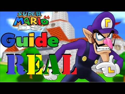 OMG!!! REAL FOOTAGE - How to Unlock Waluigi in Super Mario 64 DS - Read Desc.