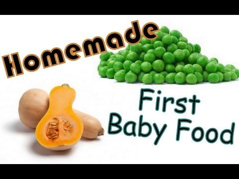 Homemade Baby Food -- Butternut Squash & Sweet Peas
