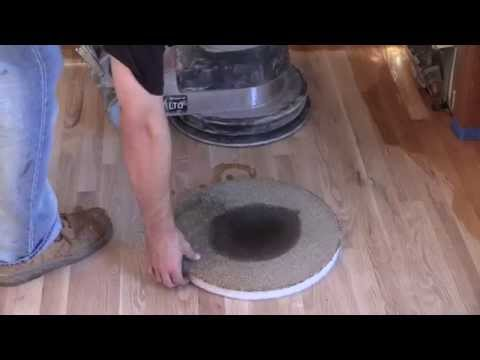 Buffing Stain on a Hardwood Floor with a Carpet Pad | City Floor Supply