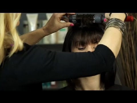 How to Style Front Bangs Without Heat : Easy Hairstyles & Makeup