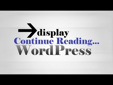 Add 'Continue Reading' using 'Insert More Tag' on WordPress homepage
