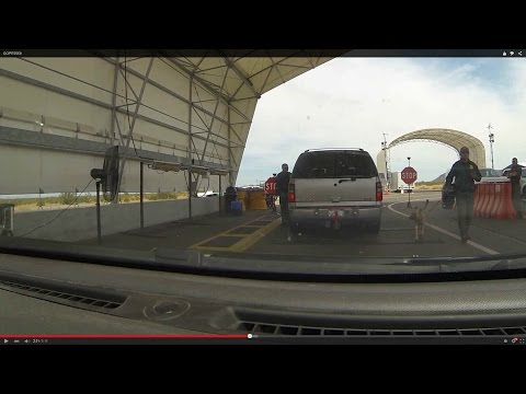 U.S. Border Patrol Checkpoint Drug Dog follows Citizen's lead to Secondary Inspection Area