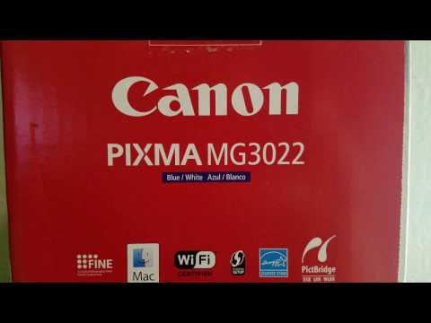 Unboxing canon pixma mg3022