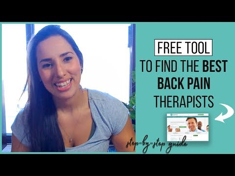 FREE TOOL to find the best back pain therapists in your city.