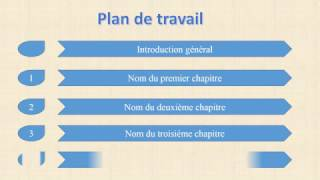 Présenter d'un  plan de travail animé sur PowerPoint / animation sur ppt
