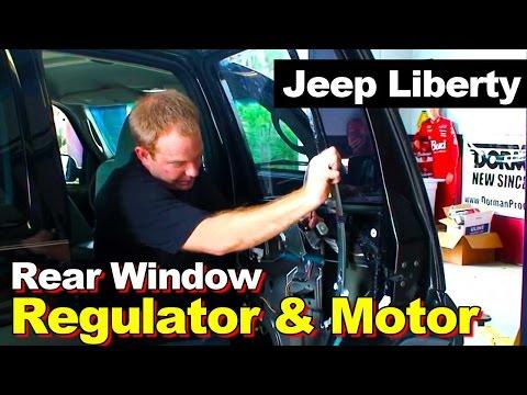 2002-2006 Jeep Liberty Rear Window Regulator and Motor