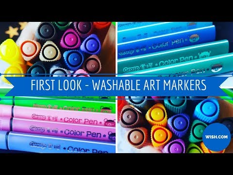 First Look - Washable Art Markers - Wish.com