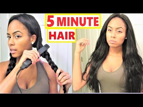 Easy Hair Styles: Wavy Hair Tutorial - Braid Waves | ft. UNice.com