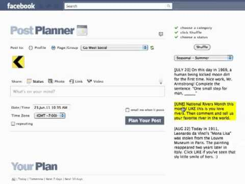 How to auto schedule every facebook post with custom branded links to your website