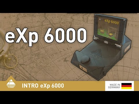 Metal detector eXp 6000 with video eye glasses and telescopic probe
