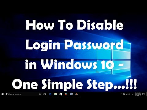 How To Disable Login Password in Windows 10   One Simple Step...!!!