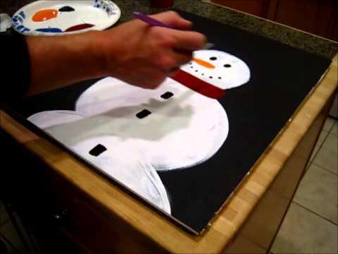 DIY Simple Snowman Painting