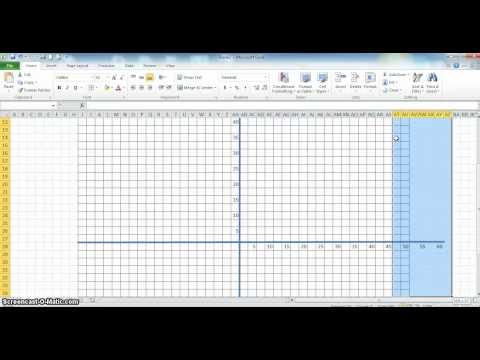 Cartesian Graph in Excel