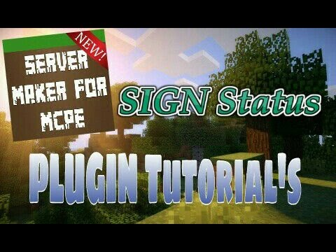 Status Signs - Server Maker For MCPE