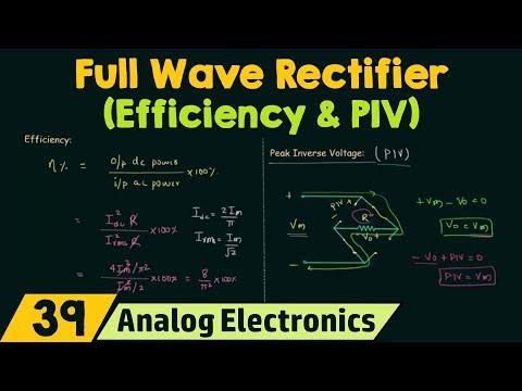 Full Wave Rectifier (Efficiency & PIV)