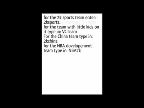 NBA 2k12 cheat codes