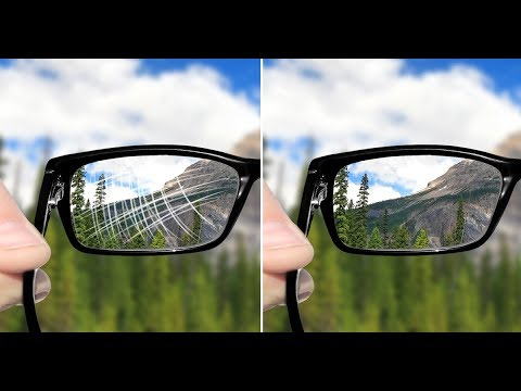 How to make an eyeglasses cleaning solution and remove scratches