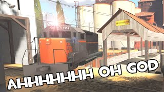 TF2 - 2Fort But There's A Train Destroying Everyone