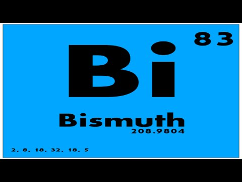 STUDY GUIDE: 83 Bismuth | Periodic Table of Elements