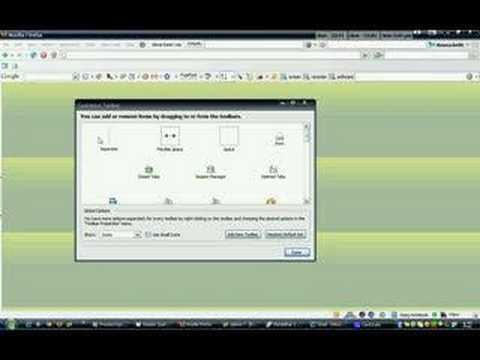 Delete a Custom Toolbar in Firefox