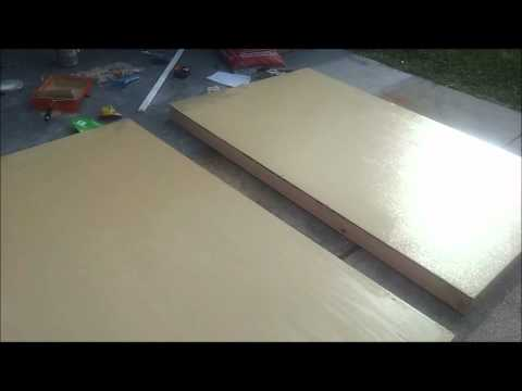 how to make a wood garage door