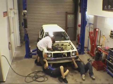 Import X TV Show No Cams Motorsport built Mazda 323 car build part 1
