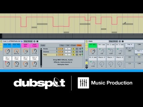 Ableton Tutorial: Trap Music Patterns - How to Build an Instrument Rack for Drum Programming Pt 3