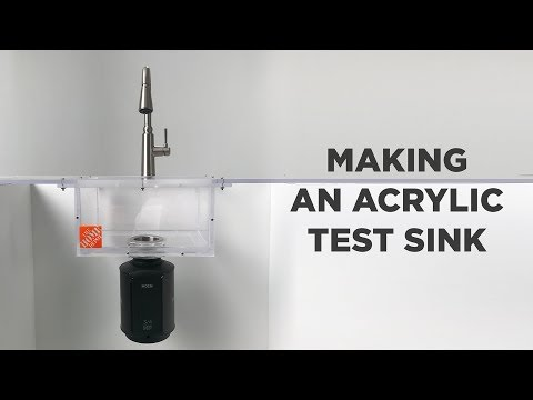 Making an Acrylic Test Sink | for a MOEN GX Garbage Disposal