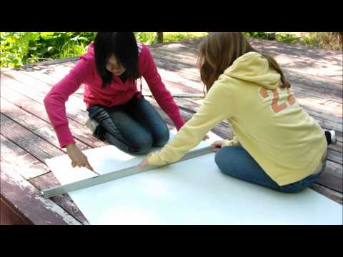 How to Reuse Cardboard, DIY free tri fold board