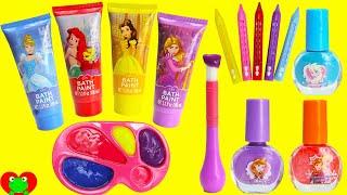Disney Princess Bath Paints and Nail Polishes Surprises
