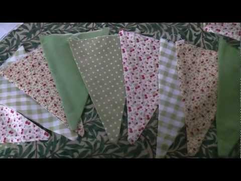 How to make your own bunting flags by machine or hand!
