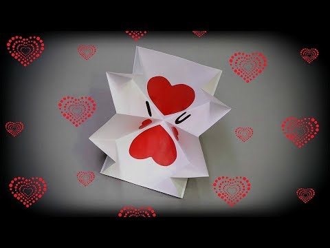 How to make Valentine's Day pop up card   Quick and easy   DIY Valentine card handmade   Gift idea