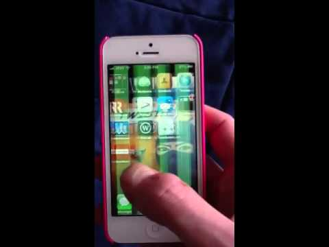 iPhone 5 green stripes low res screen
