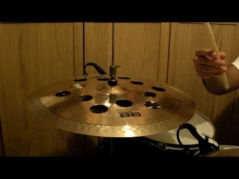 Trashy Sabian cymbal stack demonstration