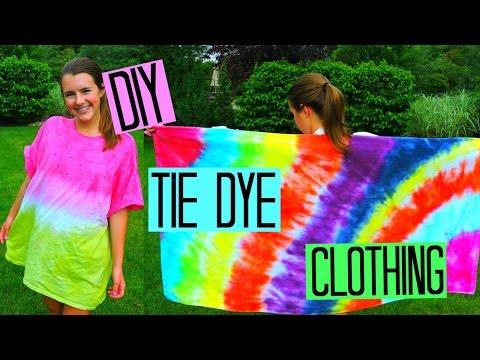 DIY Tie Dye Clothing | Watermelon Cover-up, Beach Towel & Hat