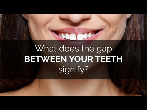 What does the gap between your teeth signify