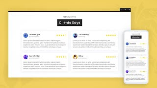 Responsive Customer Reviews on Website Only Using HTML and CSS