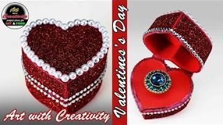 valentine day ring box | Heart box | Art with Creativity 130
