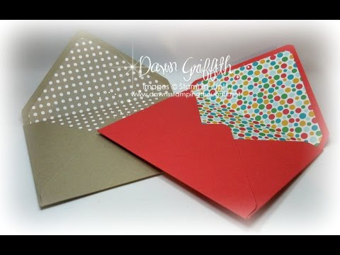 Making Envelope Liners for any size envelope with Dawn
