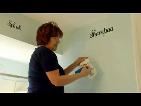 Bathroom Vinyl Wall Art Using Cricut