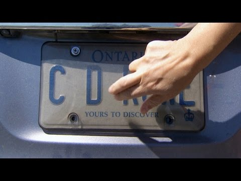 Ontario driver ticketed 3 times for licence plate covers