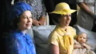 Zara Phillips Christening Day