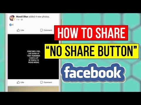 How To Share NO SHARE BUTTON Post on Facebook