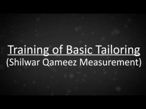 basic tailoring measurement taking