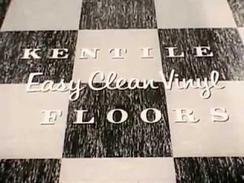 Vintage Old 1950's Easy Clean Kentile Vinyl Asbestos Floor Tile Commercial
