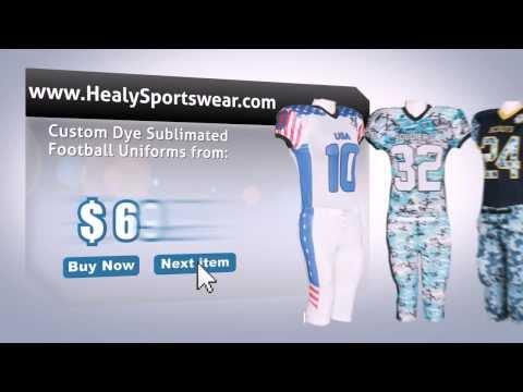 Custom football uniforms , jerseys , integrated pants from Healy Sportswear